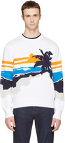 Rag & Bone White Brody Graphic Sweater