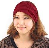 Casualbox mens Head cover Band Bandana Stretch Hair Style Japanese Black L