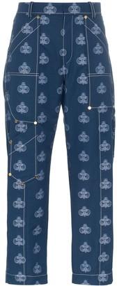 Chloé logo print cropped jeans