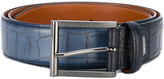 Santoni croc-effect belt - men - Leather - 105