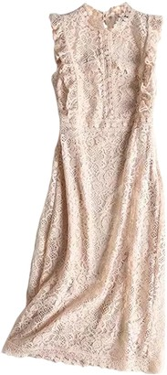 Goodnight Macaroon 'Lili' Lace Crochet Maxi Statement Dress