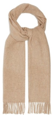 Raey Fringed Wool-blend Scarf - Beige