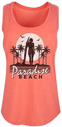 Instant Message Women's Women's Tank Tops HEATHER - Heather Coral 'Paradise Beach' Racerback Tank - Women