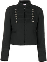 RED Valentino cropped braided military jacket - women - Polyester/Spandex/Elastane/Acetate/Viscose - 40