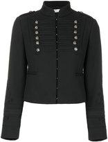 RED Valentino cropped braided military jacket - women - Polyester/Spandex/Elastane/Acetate/Viscose - 44