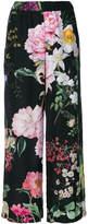 P.A.R.O.S.H. wide-leg floral print trousers