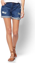 New York & Co. Soho Jeans - Destroyed Boyfriend Short - Babe Blue Wash