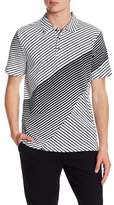 Perry Ellis Variegated Stripe Polo Shirt