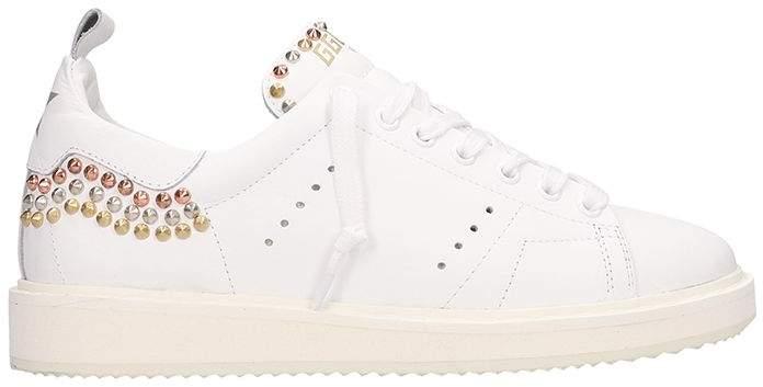 Golden Goose Starter White Leather Sneakers