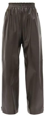 Bottega Veneta Adjustable-cuff Leather Trousers - Dark Brown