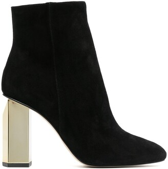 MICHAEL Michael Kors Gold-Heeled Ankle Boots