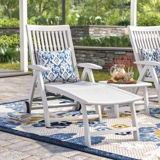 Andover Mills Argo Multi-Position Reclining Chaise Lounge Color: White