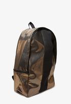 Forever 21 Metallic Backpack