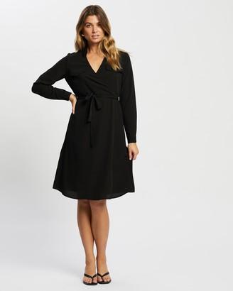 Vero Moda Women's Black Long Sleeve Dresses - Lolena Long-Sleeve Shirt Dress - Size XS at The Iconic