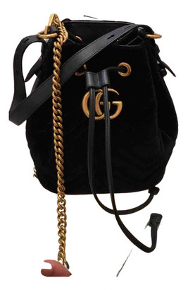 Gucci Marmont Black Suede Handbags
