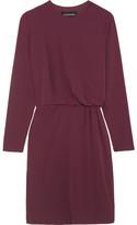 By Malene Birger Draped Crepe Dress - Burgundy