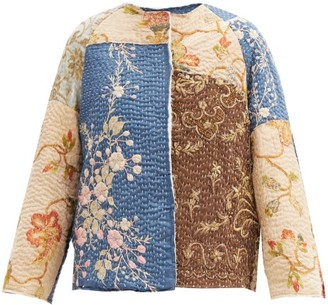 By Walid Ilana Embroidered Vintage Ecclesiastic-silk Jacket - Beige Multi