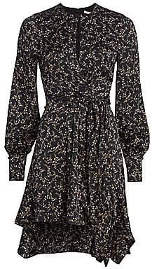 Jonathan Simkhai Women's Floral Keyhole Silk Blend Dress