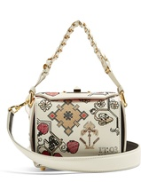 Alexander McQueen Box 16 mini embroidered-leather shoulder bag