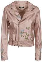 Twin-Set Twinset Embroidered Biker Jacket