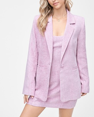 Express Emory Park Long Sleeve Tweed Blazer