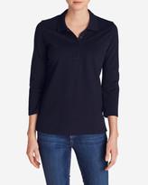 Eddie Bauer Women's 3/4-Sleeve Piqué Polo Shirt