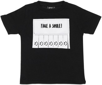 Yporqué Take A Smile Printed Jersey T-shirt
