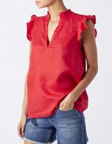 Monsoon Joey Linen Ruffle Shirt