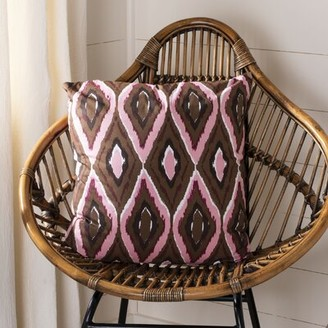 "Safavieh Tristan Cotton Throw Pillow Size: 22"" x 22"""