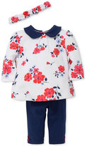 Little Me 3-Pc. Cotton Headband, Floral-Print Tunic and Leggings Set, Baby Girls (0-24 months)