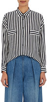 TOMORROWLAND Women's Striped Georgette Blouse