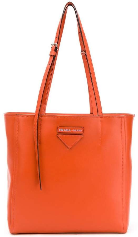 eff669ff454c Prada Orange Handbags - ShopStyle