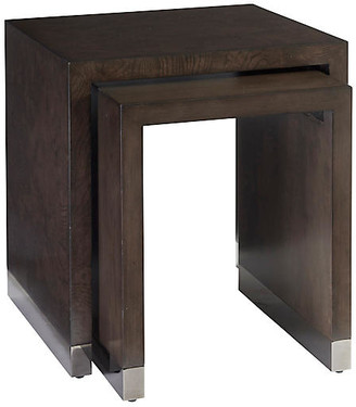 Barclay Butera Asst. of 2 Brook Nesting Tables - Wilshire Brown