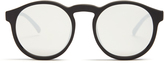 Le Specs Cubanos round-frame mirrored sunglasses