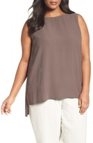 Eileen Fisher Plus Size Women's Silk Georgette Crepe Tank