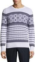 Michael Bastian Men's Bel Air Fairisle Cotton and Cashmere Sweater