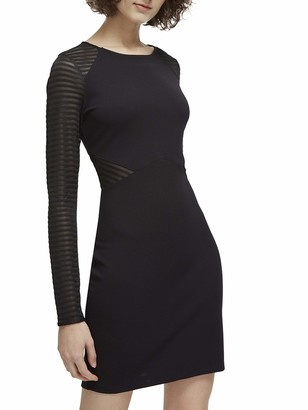 French Connection Women's Thiestis Jersey Long Sleeve Mini Dress