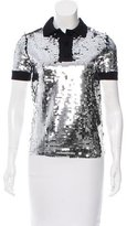 Carven Sequin Short Sleeve Polo w/ Tags