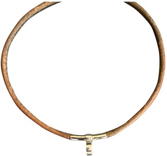 Hermã ̈S HermAs Camel Leather Necklaces