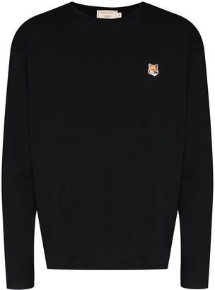 MAISON KITSUNÉ logo-patch long-sleeve T-shirt