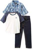 English Laundry Blue Plaid Button-Up & Tee Set - Infant, Toddler & Boys