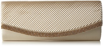 Berydale Women's Satin Clutch with Rhinestones and additional chain