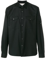 C.P. Company patch pocket shirt - men - Polyester/Viscose - M