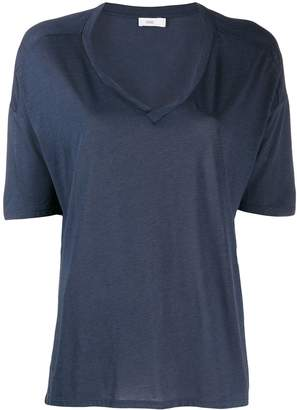 Closed short-sleeve flared T-Shirt