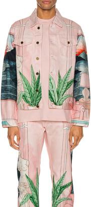 Casablanca Chambre 602 Denim Jacket in Pink | FWRD