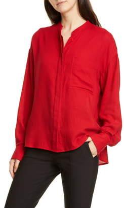 Vince Oversize Cotton Blend Shirt
