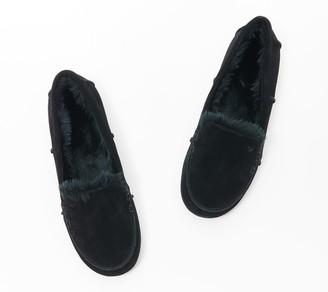Vionic Suede Indoor/Outdoor Slippers - Corinne