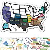 "Roger Vivier State Sticker Travel Map - 11"" x 17"" - USA States Visited Decal - United States Non Magnet Road Trip Window Stickers - Trailer Supplies & Accessories - Exterior or Interior Motorhome Wall Decals"