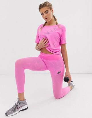 Nike Running Air Running leggings in pink