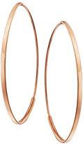 Lana Small 14K Flat Oval Magic Hoop Earrings